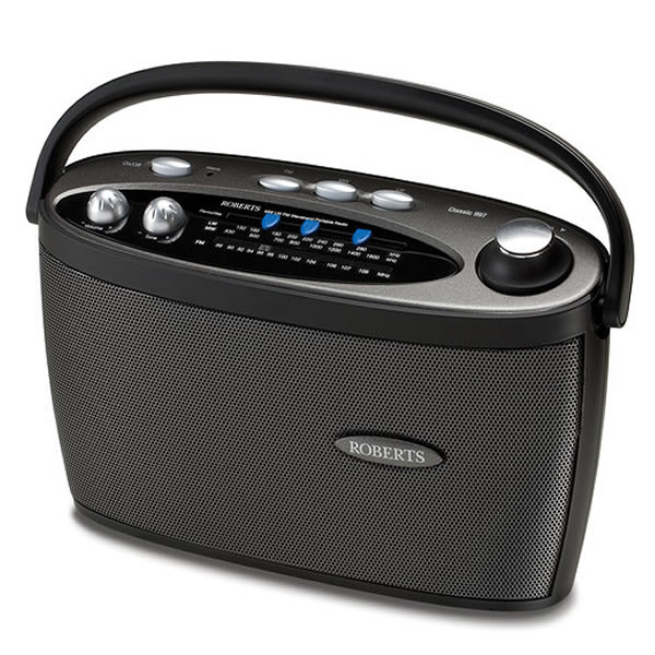 3-Band LW/MW/FM Mains/Battery Analogue Radio Black