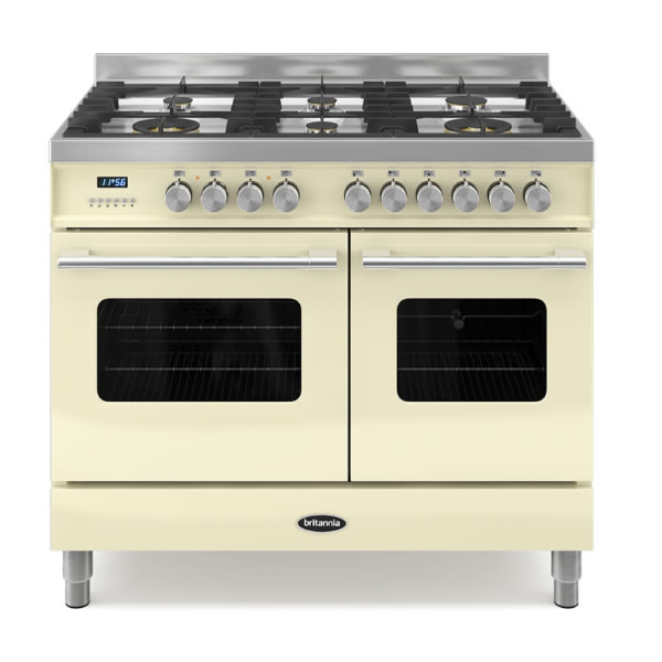 1000mm Twin Dual Fuel Range Cooker Gas Hob Cream