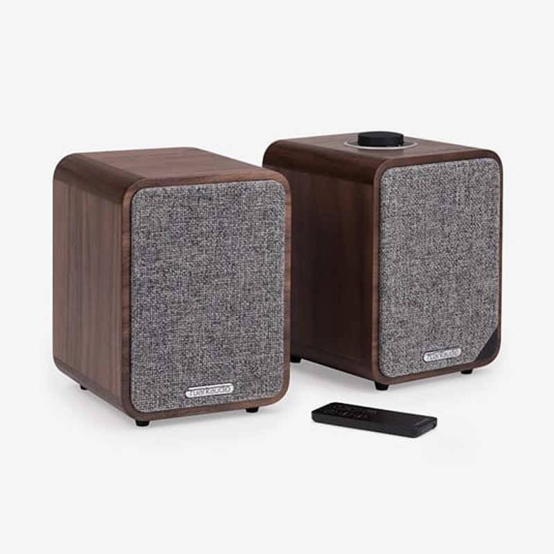Bluetooth Audio Speakers 20Watts Output Walnut