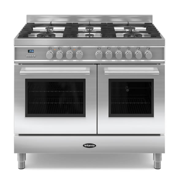 Image of 1000mm Dual Fuel Range Cooker Gas Hob S/St