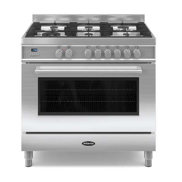 900mm Single Dual Fuel Range Cooker Gas Hob S/St