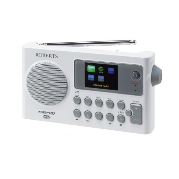DAB/FM/WiFi Internet Radio Colour Display White