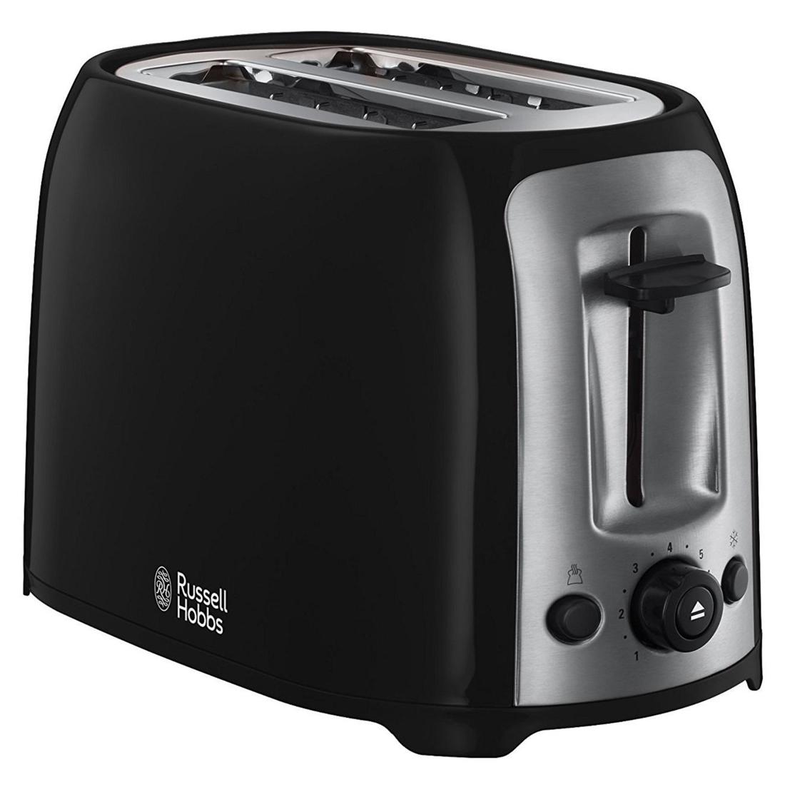 Image of 2 Slice Toaster Reheat Setting Black