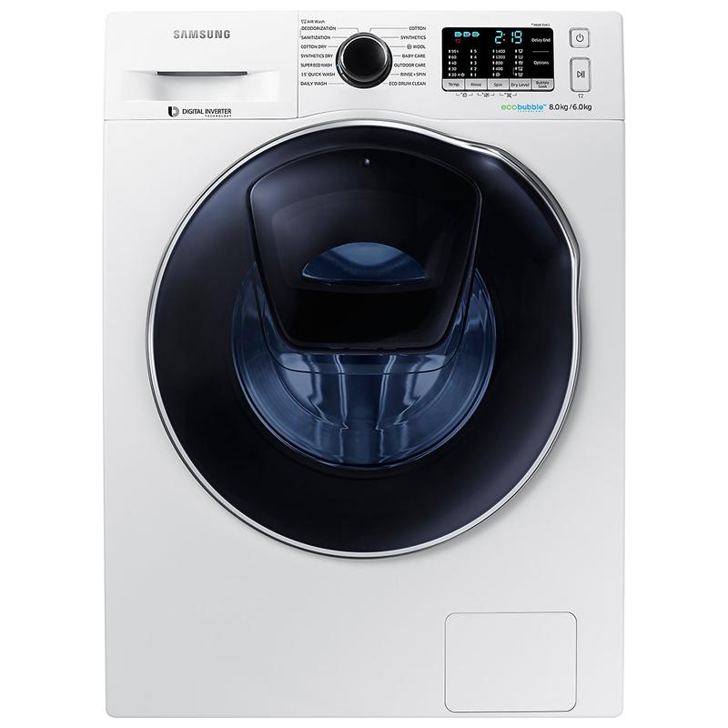 Image of 1400rpm AddWash™ Washer Dryer 8kg/6kg Load Class A